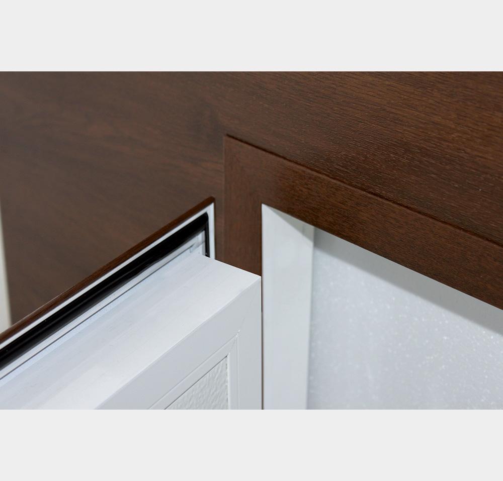 Profili in alluminio bicolore, vista esterna