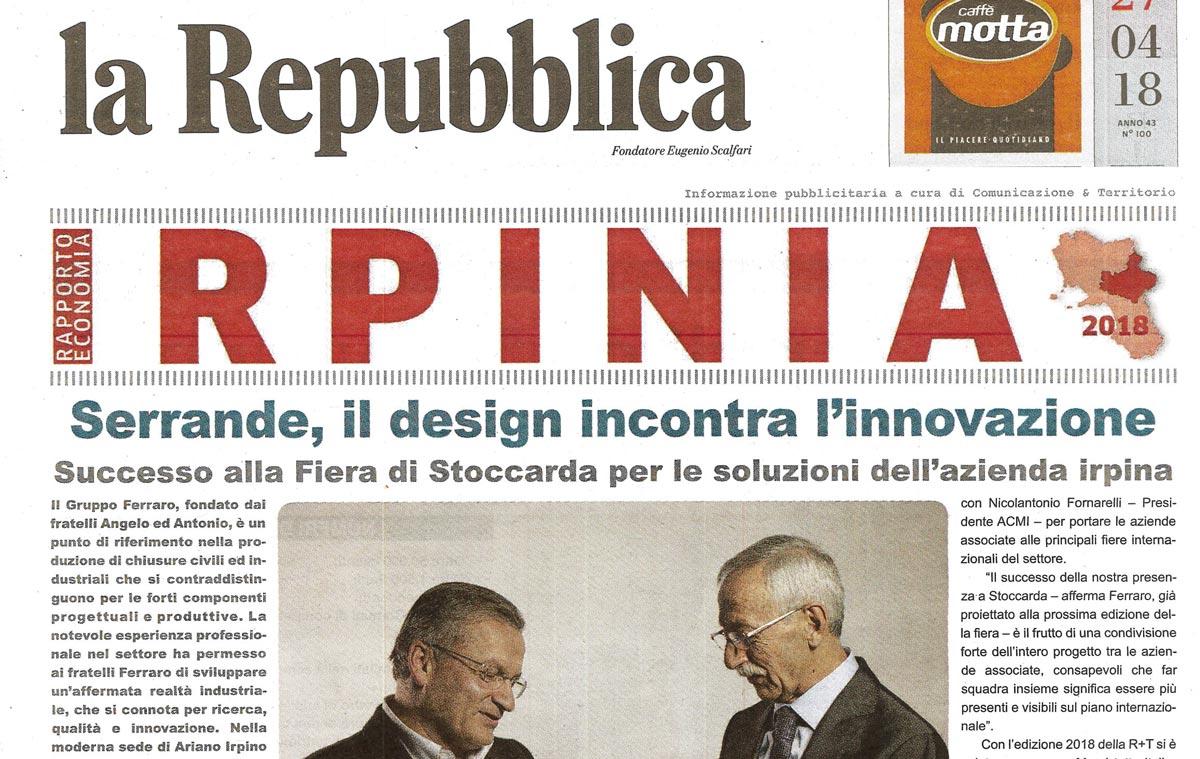 """Serrande, il design incontra l'innovazione """"la Repubblica"""""""