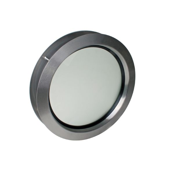 Oblò Tondo in acciaio inox d 330 mm con vetro singolo traslucido