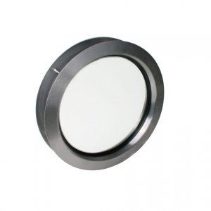 Oblò Tondo in acciaio inox d 330 mm con vetro singolo trasparente